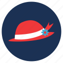 and, hats, travel, vacation, womens hat icon