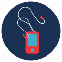 and, ipod, mp3 player, music, travel, vacation icon