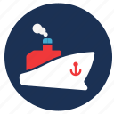 anchor, and, cargo, ship, travel, vacation icon