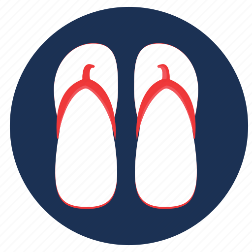 flip flops, flip-flops, slippers, travel, vacation icon