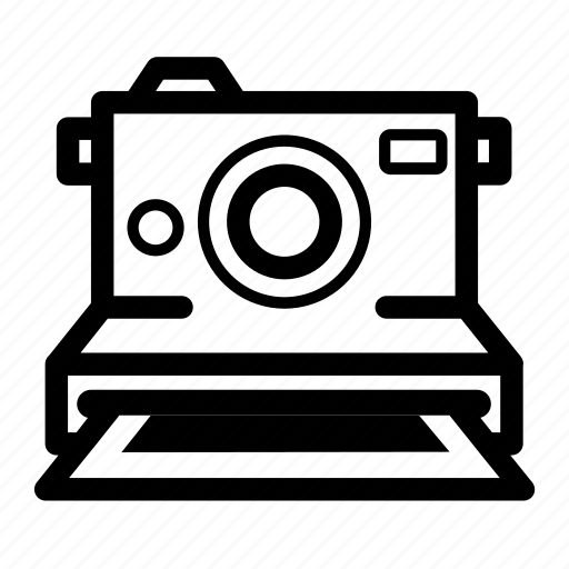 instant camera, photography, polaroid, print icon