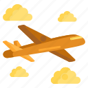 aeroplane, aircraft, airplane, flight icon