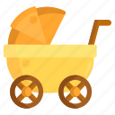 baby, baby stroller, stroller icon