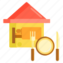 airbnb, bed, bed and breakfast, breakfast icon