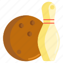 bowling, bowling alley, bowling ball, bowling pin icon