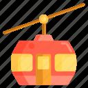 cable car, gondola icon