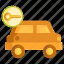 car, rental, rental car icon