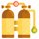diving, oxygen, oxygen tank, tank icon