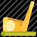 golf, golf ball, golf course, putter icon