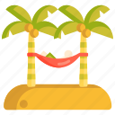 beach, chill, hammock, holiday, relax, relaxation, vacation icon