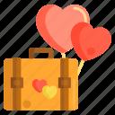 baggage, briefcase, elope, honeymoon, suitcase icon