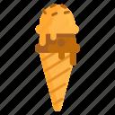 cream, ice, ice cream, ice cream cone icon