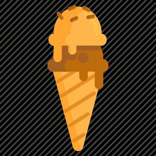 Cream, ice, ice cream, ice cream cone icon - Download on Iconfinder