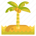 coconut tree, island, tree icon