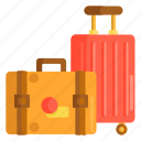 baggage, briefcase, check in, luggage, suitcase, travel icon