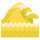 ocean, sea, tsunami, waves icon