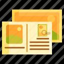 card, postcard, souvenir icon