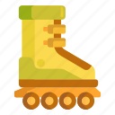 roller, roller skate, roller skating, skate, skating, skating shoes icon