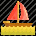 boat, sailing, sampan, yacht icon