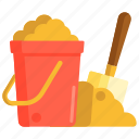 bucket, sand, sand bucket, shovel icon