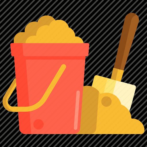 bucket, sand, sand bucket, shovel icon