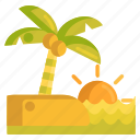 beach, sunrise, sunset icon