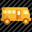 bus, coach, minibus, minivan, tour icon