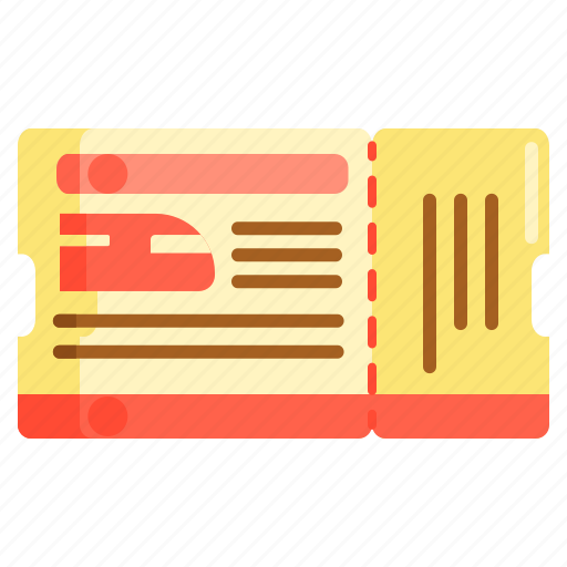 boarding pass, ticket, train, train pass, train ticket icon