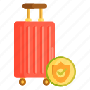 baggage coverage, baggage insurance, baggage protection, insurance, travel, travel insurance icon