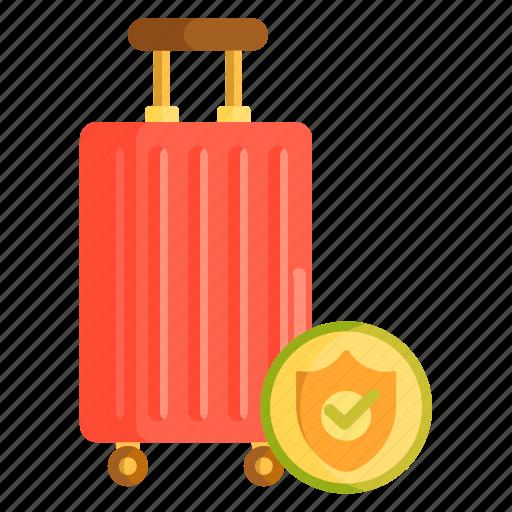 baggage coverage, baggage insurance, baggage protection, insurance, travel, travel insurance icon