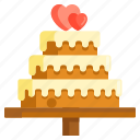 cake, wedding, wedding cake icon