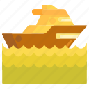 boat, cruise, ship, speed boat, yacht icon