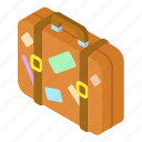 bag, cartoon, journey, luggage, suitcase, travel, vacation icon