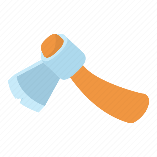 axe, cartoon, construction, cross, metal, sharp, tool icon
