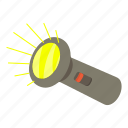 cartoon, electric, flashlight, lamp, light, tool, torch icon