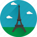 eiffel, landmark, sights, tour icon