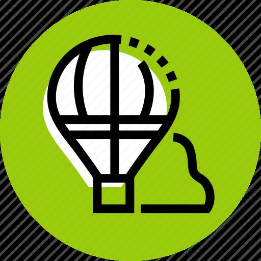 air, air balloon, ballon icon, balloon, cloud, grid icon