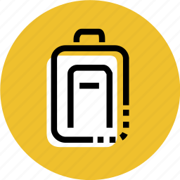 backpack, bag, fly, grid, travel, travel icon icon