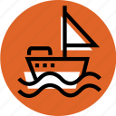 boat, boat icon, grid, sailor ship icon