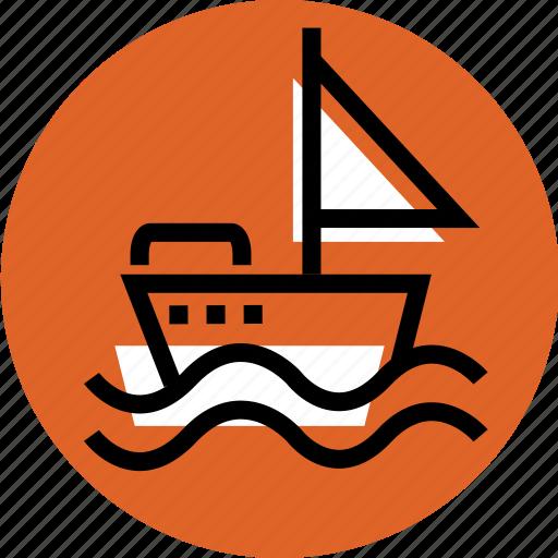 boat, boat icon, grid, sailor ship icon