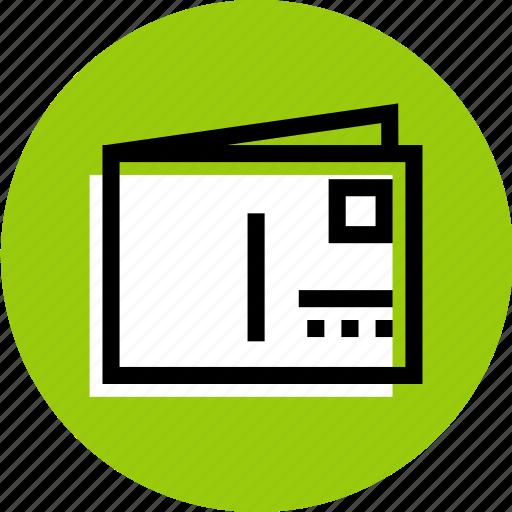 card, card icon, grid, invitation icon, postcard icon