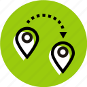 destination, grid, location, location icon, pointer, pointer icon icon