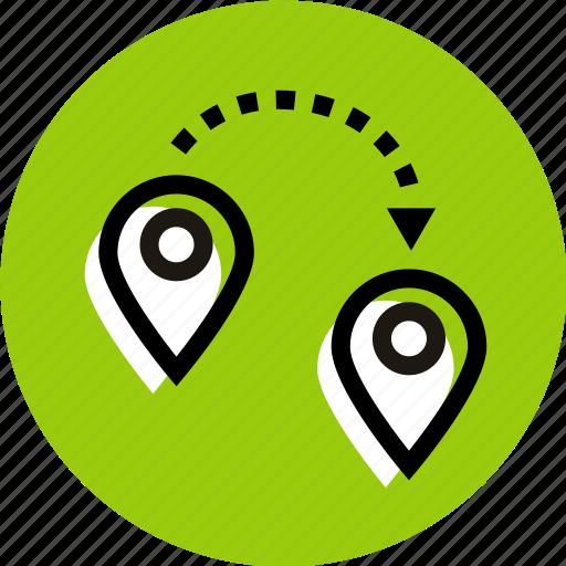 destination, grid, location, location icon, pointer, pointer icon icon