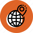 grid, location, marker, point icon, travel icon, world icon icon
