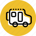 bus, car, grid, minibus, travel bus, travel icon icon