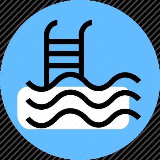 grid, pool, pool icon, swim icon, swimming icon, travel icon, water icon icon