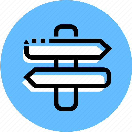 arrow, grid, point, pointer, road, sign, sign icon icon