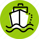 boat, grid, sailor, ship, ship icon, transport, wave icon