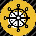 wheel, wheel icon, grid, sea, handwheel, sea boat, steering