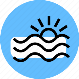 flood, grid, sunrice, water, water icon, water waves, waves icon